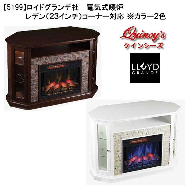 画像1: 【5199】ロイドグランデ社(23インチ)電気式暖炉(レデン)マントルピース ※2色よりお選び頂けます。 (1)