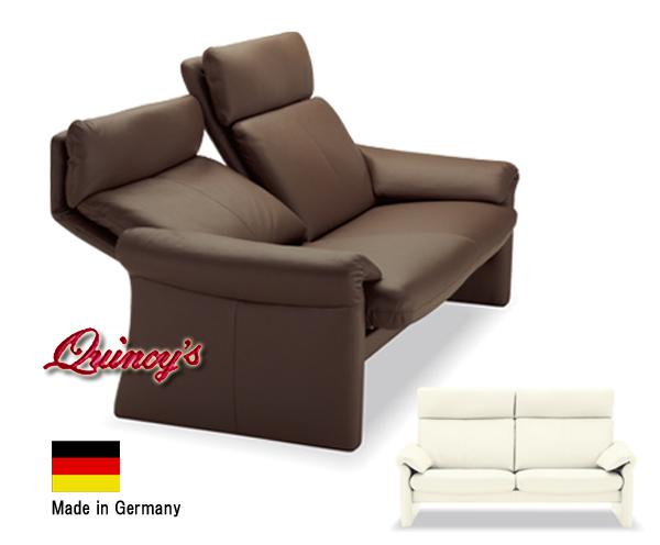 画像1: 【3108】ドイツ製 最高級本革リクライニングソファー(2,5人掛け)