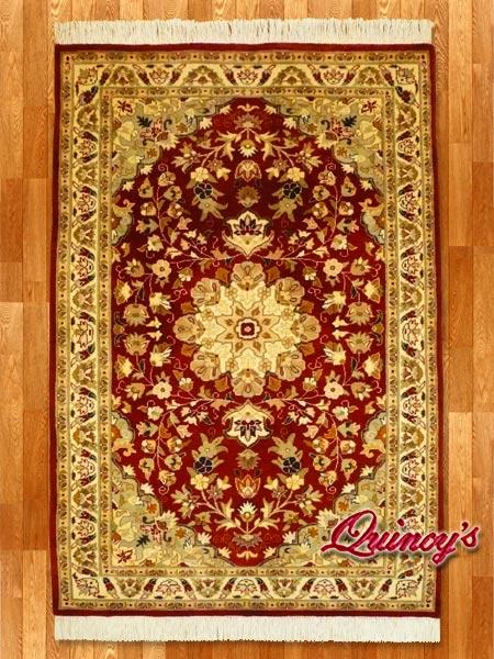 画像1: 【3193】ペルシャ絨毯 カシミア&ウール(赤)