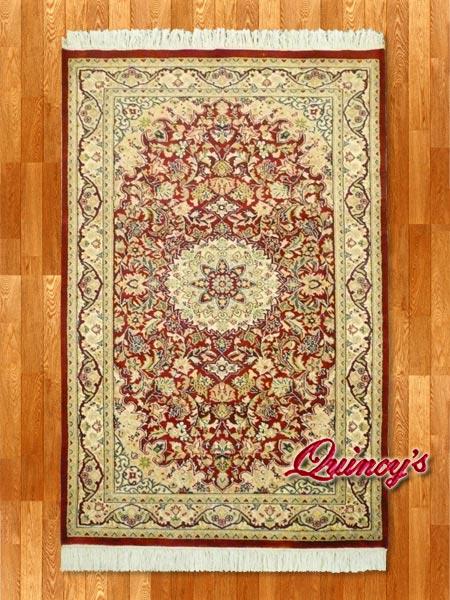 画像1: 【3200】ペルシャ絨毯 カシミア&ウール(赤)