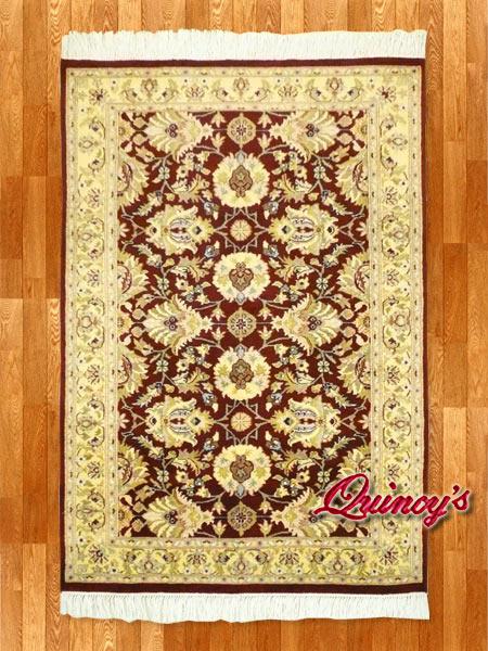 画像1: 【3201】ペルシャ絨毯 カシミア&ウール(煉瓦色×ベージュ)