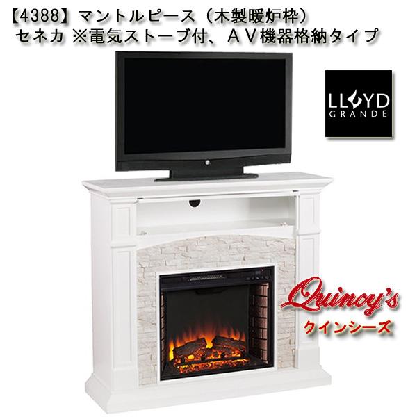 画像1: 【4388】 ロイドグランデ社(23インチ)電気式暖炉(セネカ)※AV機器格納タイプ マントルピース