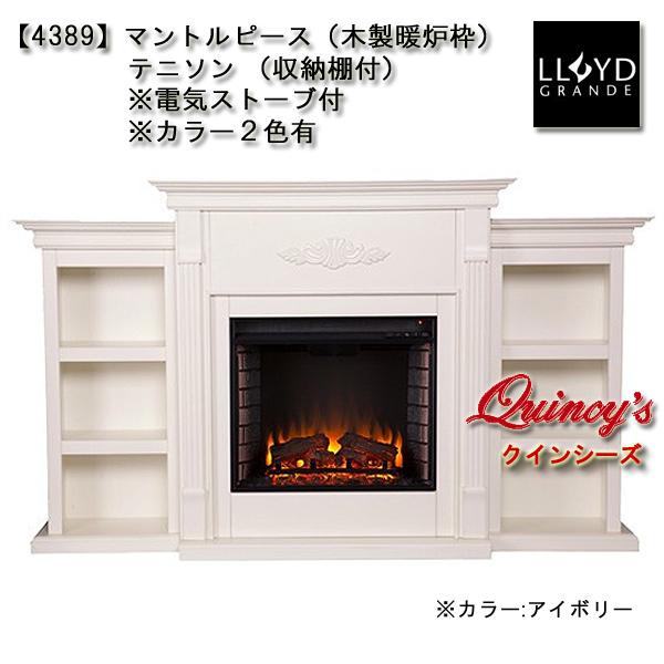 画像1: 【4389】 ロイドグランデ社(23インチ)電気式暖炉(テニソン)※収納棚付 マントルピース