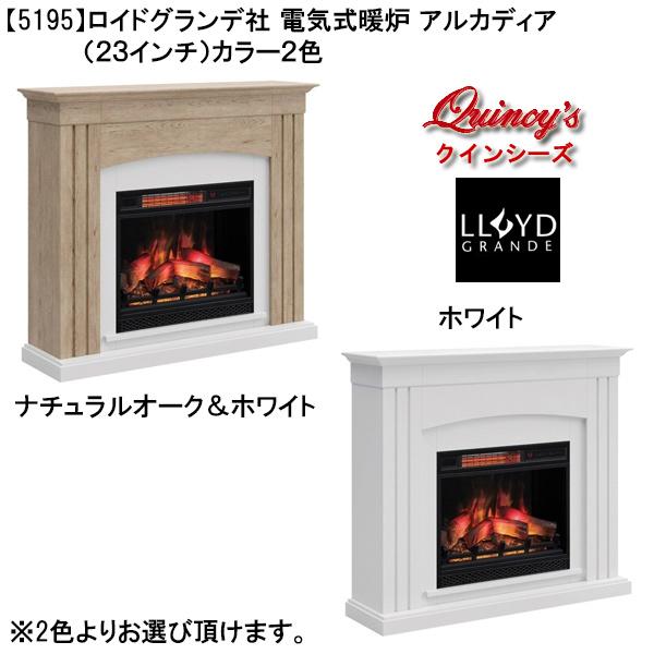 画像1: 【5195】ロイドグランデ社(23インチ)電気式暖炉(アルカディア)マントルピース ※2色よりお選び頂けます。